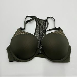 Victoria's Secret Army Green T-Shirt Push Up Bra